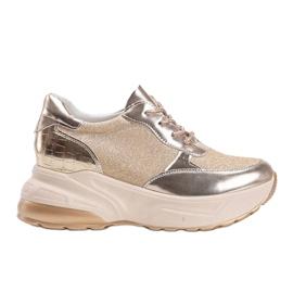 Złote sneakersy na grubej podeszwie Amy złoty 4