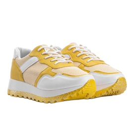 Żółte sneakersy sportowe Antonia 1
