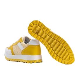 Żółte sneakersy sportowe Antonia 2