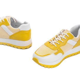 Żółte sneakersy sportowe Antonia 3