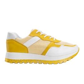 Żółte sneakersy sportowe Antonia 4