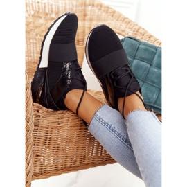 FB2 Damskie Sportowe Buty Sneakersy Czarne Netta 1