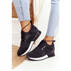 FB2 Damskie Sportowe Buty Sneakersy Czarne Netta 2