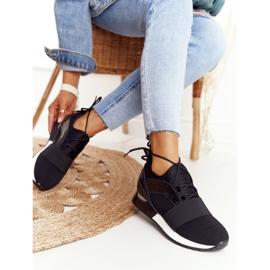 FB2 Damskie Sportowe Buty Sneakersy Czarne Netta 4