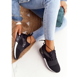 FB2 Damskie Sportowe Buty Sneakersy Czarne Netta 5