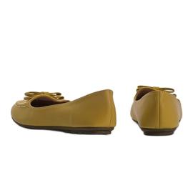 Żółte mokasyny damskie z kokardką Ingrid 3