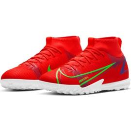 Buty piłkarskie Nike Mercurial Superfly 8 Academy Tf Jr CV0789 600 czerwone czerwone 1