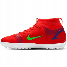 Buty piłkarskie Nike Mercurial Superfly 8 Academy Tf Jr CV0789 600 czerwone czerwone 2
