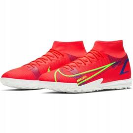 Buty piłkarskie Nike Mercurial Superfly 8 Academy Tf M CV0953 600 czerwone czerwone 3