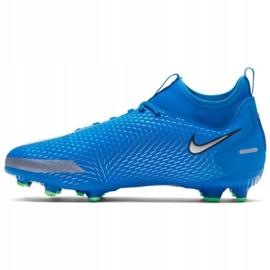 Buty piłkarskie Nike Phantom Gt Academy Df FG/MG Jr CW6694 400 niebieskie wielokolorowe 1