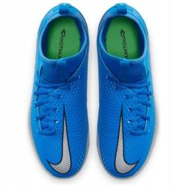 Buty piłkarskie Nike Phantom Gt Academy Df FG/MG Jr CW6694 400 niebieskie wielokolorowe 2