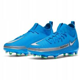 Buty piłkarskie Nike Phantom Gt Academy Df FG/MG Jr CW6694 400 niebieskie wielokolorowe 3