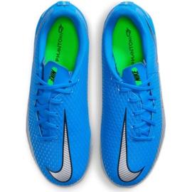 Buty piłkarskie Nike Phantom Gt Academy FG/MG Jr CK8476 400 niebieskie niebieskie 1