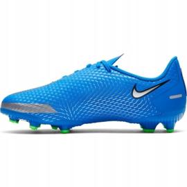 Buty piłkarskie Nike Phantom Gt Academy FG/MG Jr CK8476 400 niebieskie niebieskie 2