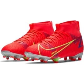 Buty piłkarskie Nike Mercurial Superfly 8 Academy Mg Jr CV1127 600 czerwone czarne 1