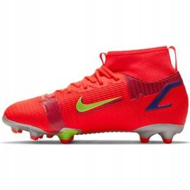 Buty piłkarskie Nike Mercurial Superfly 8 Academy Mg Jr CV1127 600 czerwone czarne 2