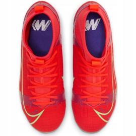 Buty piłkarskie Nike Mercurial Superfly 8 Academy Mg Jr CV1127 600 czerwone czarne 3
