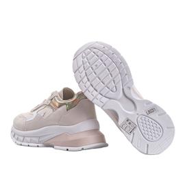 Beżowe sneakersy na grubej podeszwie Kristen beżowy 3