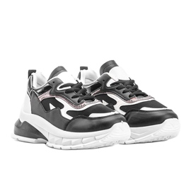 Czarne sneakersy na grubej podeszwie Kristen 1