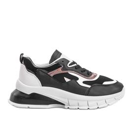 Czarne sneakersy na grubej podeszwie Kristen 3