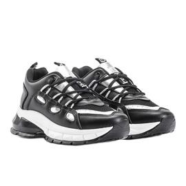 Czarne sneakersy z srebrnymi wstawkami Guadalupe 1