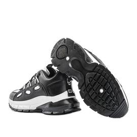 Czarne sneakersy z srebrnymi wstawkami Guadalupe 2