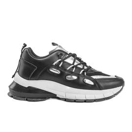 Czarne sneakersy z srebrnymi wstawkami Guadalupe 4