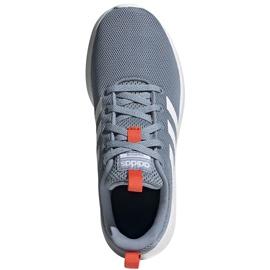 Buty do biegania adidas Lite Racer Cln K szare FV9607 białe niebieskie pomarańczowe 1