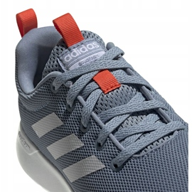 Buty do biegania adidas Lite Racer Cln K szare FV9607 białe niebieskie pomarańczowe 3