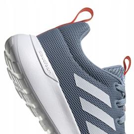 Buty do biegania adidas Lite Racer Cln K szare FV9607 białe niebieskie pomarańczowe 4