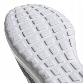 Buty do biegania adidas Lite Racer Cln K szare FV9607 białe niebieskie pomarańczowe 5