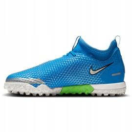 Buty piłkarskie Nike Phantom Gt Academy Df Tf Jr CW6695 400 niebieskie niebieskie 1