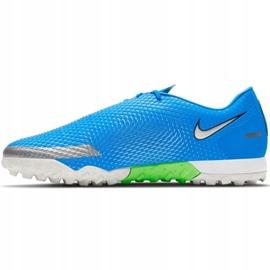 Buty piłkarskie Nike Phantom Gt Academy Tf M CK8470 400 niebieskie niebieskie 1