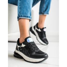 SHELOVET Sneakersy Na Platformie Z Siateczką czarne 2