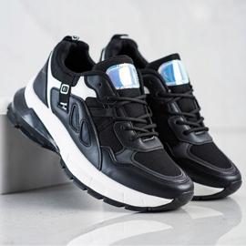 SHELOVET Sneakersy Na Platformie Z Siateczką czarne 4