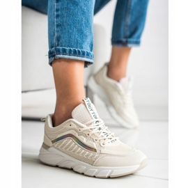 SHELOVET Klasyczne Sneakersy beżowy 4