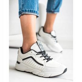 SHELOVET Klasyczne Sneakersy białe czarne 1