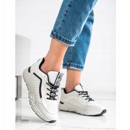 SHELOVET Klasyczne Sneakersy białe czarne 2