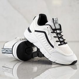 SHELOVET Klasyczne Sneakersy białe czarne 3