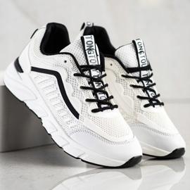 SHELOVET Klasyczne Sneakersy białe czarne 4
