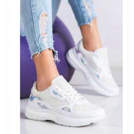 Creamberry'S Sneakersy Z Wstawkami Holo białe wielokolorowe 1