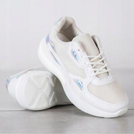 Creamberry'S Sneakersy Z Wstawkami Holo białe wielokolorowe 3