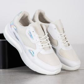 Creamberry'S Sneakersy Z Wstawkami Holo białe wielokolorowe 4