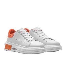 Biało pomarańczowe sneakersy damskie Taranto białe 1