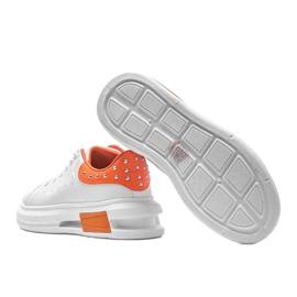 Biało pomarańczowe sneakersy damskie Taranto białe 2