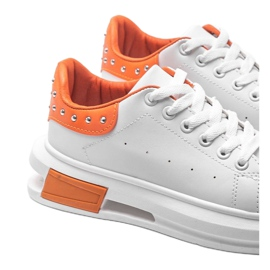 Biało pomarańczowe sneakersy damskie Taranto białe 3