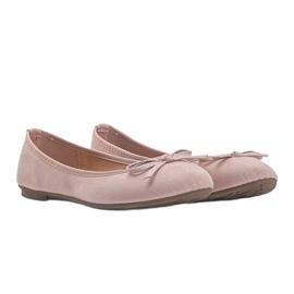 Różowe balerinki z kokardka Angelina 3