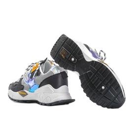 Czarne sneakersy sportowe Holly białe 3