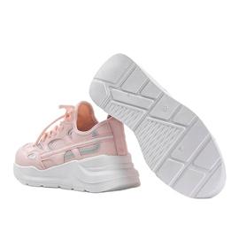 Różowe sneakersy sportowe Lativia białe 1