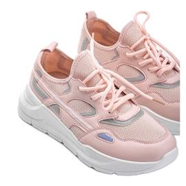Różowe sneakersy sportowe Lativia białe 2
